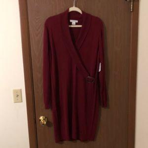 Liz Claiborne Red Sweater Dress (Never Worn!)